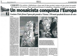 Petris Luciano - Un mosaicista conquista l'Europa